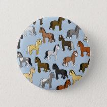 Cute Herd of Horses Pinback Button
