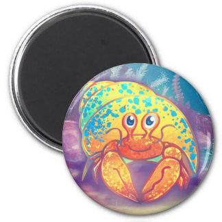 Cute Hermit Crab 2 Inch Round Magnet