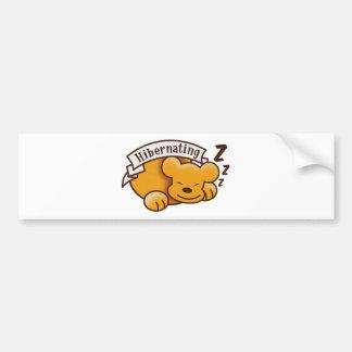Cute Hibernating Bear with zzz 's Car Bumper Sticker