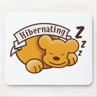 Cute Hibernating Bear with zzz 's Mouse Pad