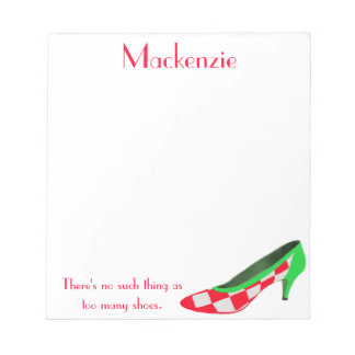 Cute High Heel Shoe Personalized Notepads