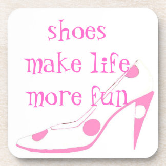 Cute High Heel Shoe pink Coasters