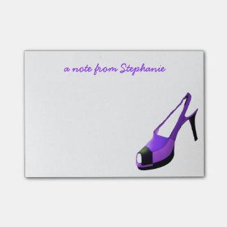 Cute High Heel Shoe Purple Post-it® Notes