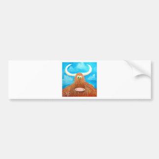 CUTE HIGHLAND COW BUMPER STICKER