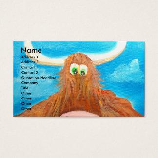 CUTE HIGHLAND COW BUSINESS CARD