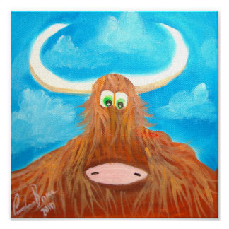 CUTE HIGHLAND COW POSTERS