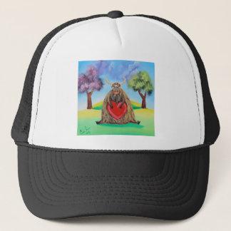Cute Highland cow with a heart Gordon Bruce Trucker Hat