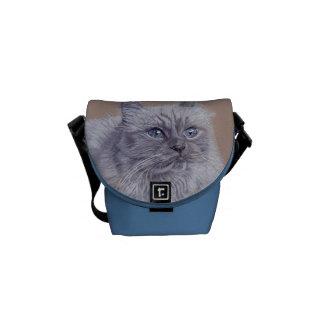 Cute Himalayan Cat Messenger Bag