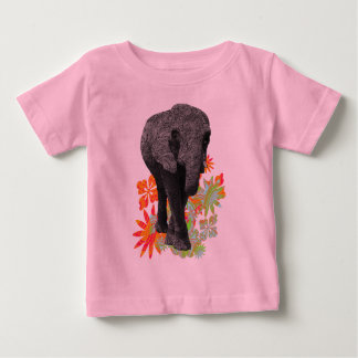 Cute Hippie Elephant Baby T-Shirt