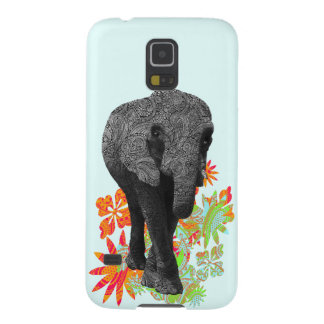 Cute Hippie Elephant Galaxy S5 Cover