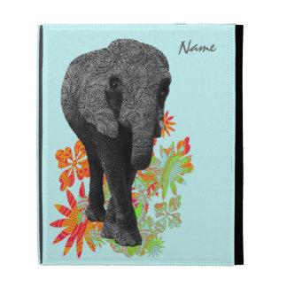Cute Hippie Elephant iPad Sleeves iPad Folio Covers