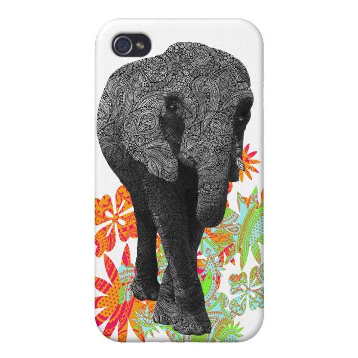 Cute Hippie Elephant iPhone 4/4S Case