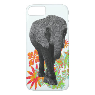 Cute Hippie Elephant iPhone 7 case