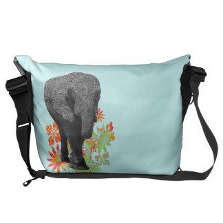 Cute Hippie Elephant Messenger Bags