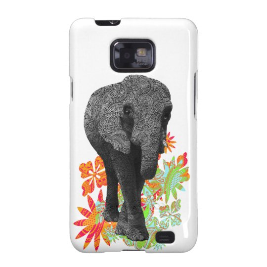 Cute Hippie Elephant Samsung Galaxy S2 Cases