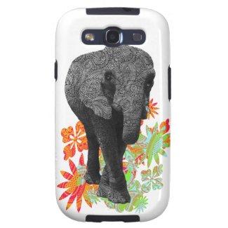 Cute Hippie Elephant Samsung Galaxy SIII Case