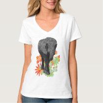 Cute Hippie Elephant tees