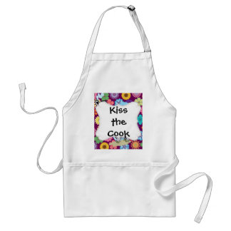 Cute Hippie Elephant with Colorful Flowers Aprons