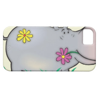 cute hippie hippo iPhone SE/5/5s case