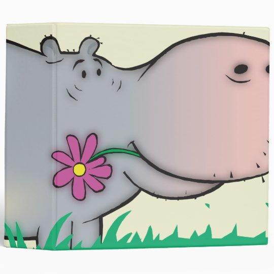 cute hippie hippo notebook binder