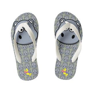 Cute Hippo 2 Kid's Flip Flops