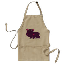 Cute Hippo Adult Apron