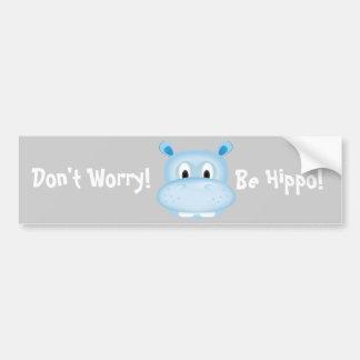 Cute Hippo Bumper Sticker