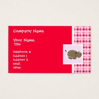 Cute Hippo Business Card