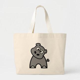 Cute Hippo Canvas Bags