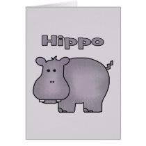 Cute Hippo Card