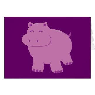 Cute Hippo Greeting Card