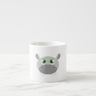 Cute Hippo Cartoon 6 Oz Ceramic Espresso Cup