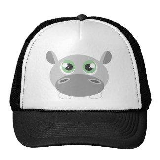 Cute Hippo Cartoon Trucker Hat