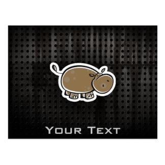 Cute Hippo; Cool Postcard