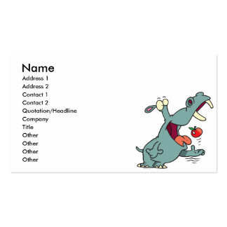 cute hippo eating apple cartoon Double-Sided standard business cards (Pack of 100)