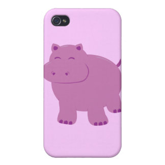 Cute Hippo Cover For iPhone 4