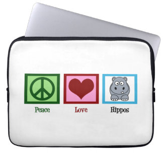 Cute Hippo Laptop Computer Sleeves