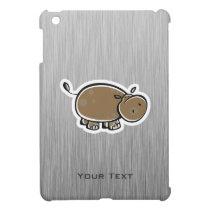 Cute Hippo; Metal-look Cover For The iPad Mini