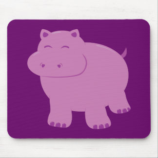 Cute Hippo Mouse Pad