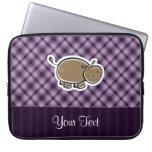 Cute Hippo; Purple Laptop Computer Sleeve