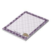 Cute Hippo; Purple Notepad