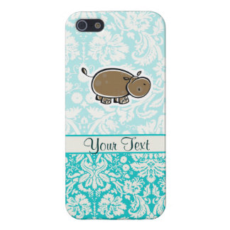 Cute Hippo; Teal Case For iPhone SE/5/5s