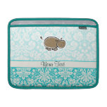 Cute Hippo; Teal MacBook Air Sleeve