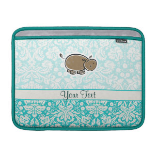 Cute Hippo; Teal MacBook Air Sleeve