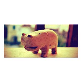Cute Hippo Toy Customized Rack Card