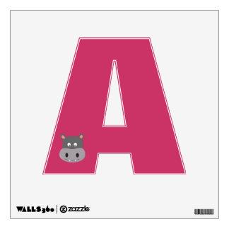 cute hippo wall sticker
