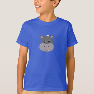 cute hippo with bird T-Shirt