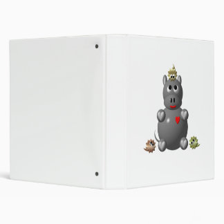 Cute Hippo with Hamsters! Binder