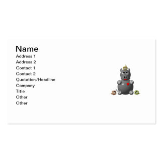 Cute Hippo with Hamsters! Business Card