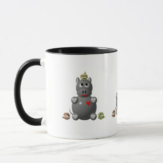 Cute Hippo with Hamsters! Mug